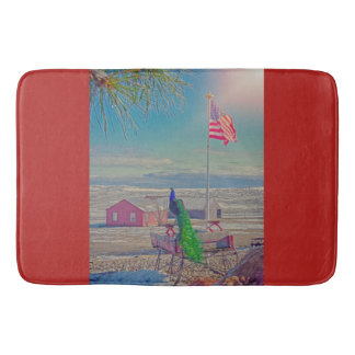 Roger and The American Flag Bath Mat Wildlife Bath Mats