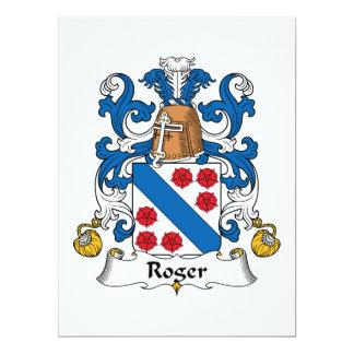 Roger Family Crest Custom Invitation