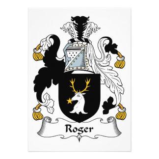 Roger Family Crest Card