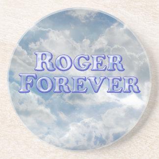 Roger Forever - Basic Sandstone Coaster