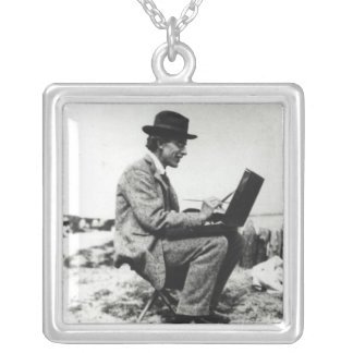 Roger Fry Square Pendant Necklace