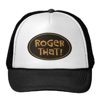 Roger That! Cap