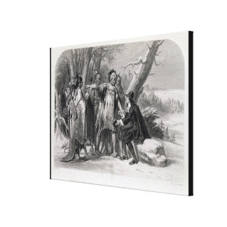 Roger Williams sheltered by the Narragansetts Canvas Print