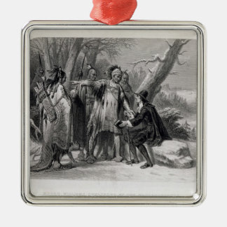 Roger Williams sheltered by the Narragansetts Christmas Ornament