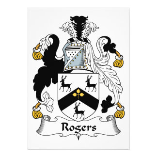 Rogers Family Crest Cards