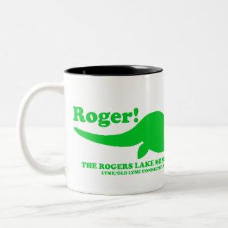 ROGERS LAKE MONSTER Two-Tone COFFEE MUG