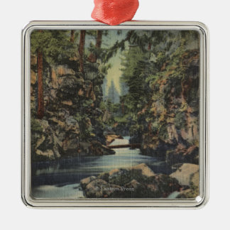 Rogue River, Oregon - Upper Gorge View of River Christmas Ornament