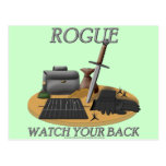 Rogue: Watch Your Back Postcard