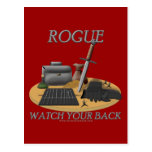 Rogue: Watch Your Back Postcards