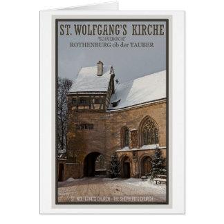 Rohenburg od Tauber - St Wolfgangs Church Greeting Card