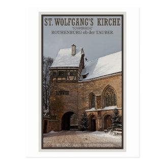 Rohenburg od Tauber - St Wolfgangs Church Postcard