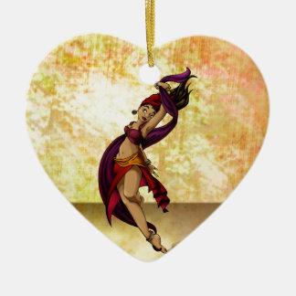 Rohesia Dancer Ceramic Heart Decoration