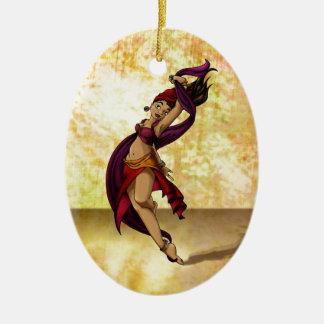 Rohesia Dancer Ceramic Oval Decoration
