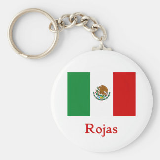Rojas Mexican Flag Key Ring