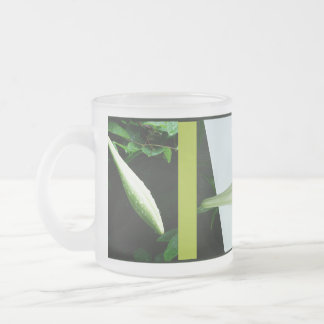 RokCloneDesigns Easter Lily Triptych Frosted Glass Frosted Glass Mug