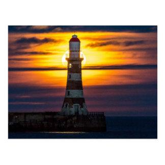 Roker Lighthouse Postcard