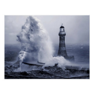 Roker Lighthouse Print