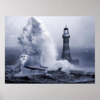 Roker Lighthouse Print