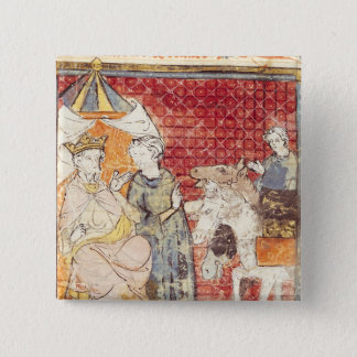 Roland Bidding Farewell to Charlemagne 15 Cm Square Badge