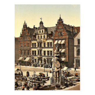 Roland's Monument, Bremen, Germany rare Photochrom Postcard