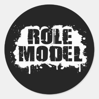 Role Model Round Sticker