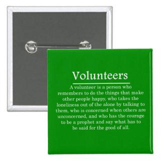 Role of Volunteers 15 Cm Square Badge