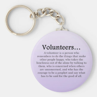 Role of Volunteers Basic Round Button Key Ring