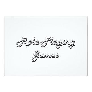 Role-Playing Games Classic Retro Design 13 Cm X 18 Cm Invitation Card