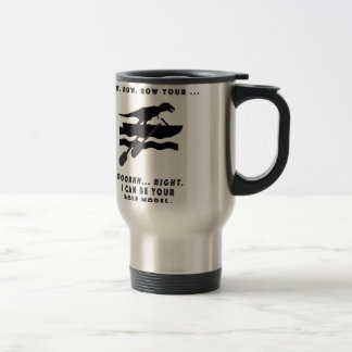 Role your boat stainless steel travel mug