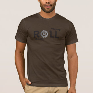 ROLL, Bike gear Trendy design in gray & black T-Shirt