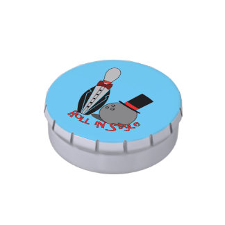 Roll in Style - Edible Bowling Party Favors Jelly Belly Tin