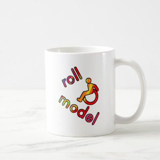 Roll Model - Disability Tees - in bright colours Basic White Mug