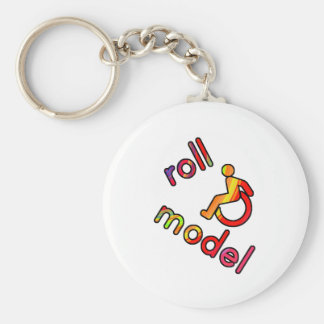 Roll Model - Disability Tees - in bright colours Key Ring