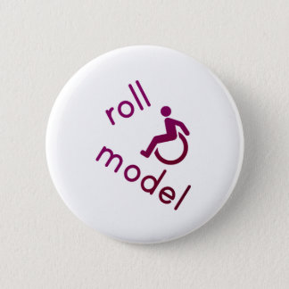 Roll Model - Disability Tees - in purple 6 Cm Round Badge