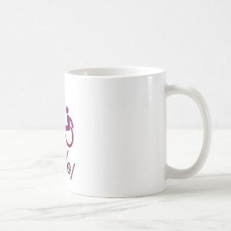 Roll Model - Disability Tees - in purple Basic White Mug