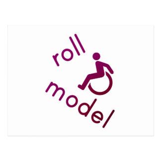 Roll Model - Disability Tees - in purple Postcard