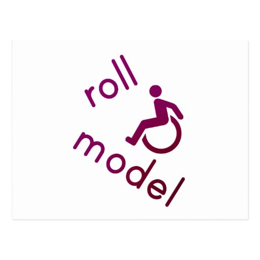Roll Model - Disability Tees - in purple Postcard