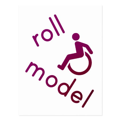 Roll Model - Disability Tees - in purple Post Card