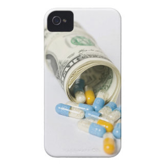 Roll of Dollar notes and capsules iPhone 4 Cover