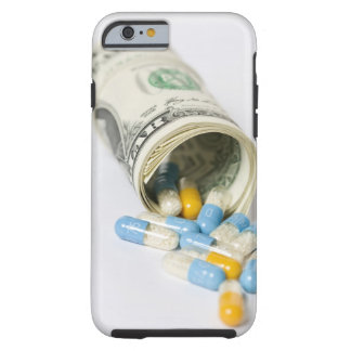 Roll of Dollar notes and capsules Tough iPhone 6 Case