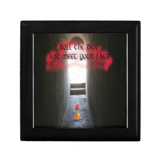Roll the dice and meet your fate small square gift box