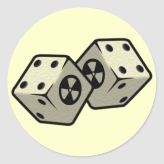 Roll the Dice Classic Round Sticker