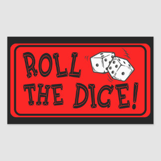 Roll The Dice Rectangular Sticker