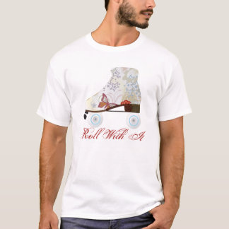 Roll With It Roller Skating Tee