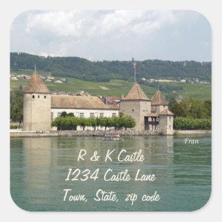 Rolle Castle Square Sticker