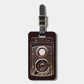 Rolleicord art deco camera luggage tag