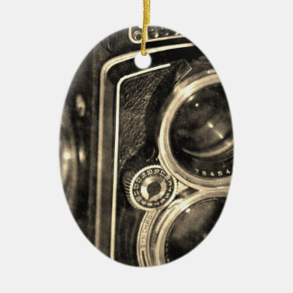 Rolleiflex Camera Ceramic Oval Decoration