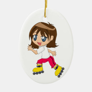 Roller Blading Girl Ornament