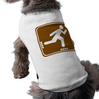 Roller Blading Highway Sign Sleeveless Dog Shirt