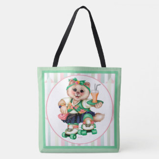 ROLLER CAT CUTE All-Over-Print Tote Bag